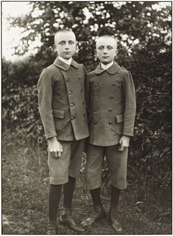Brothers 1920, printed 1990 by August Sander 1876-1964