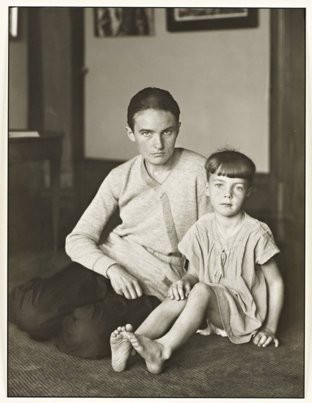 Mother and Daughter (Helene Abelen with Daughter Josepha) c. 1926, printed 1990 by August Sander 1876-1964