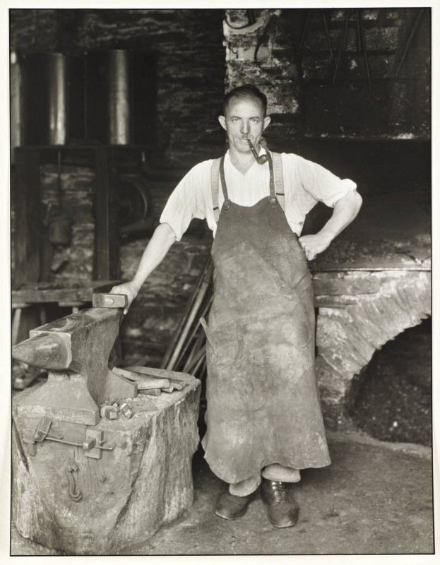 Blacksmith c. 1930, printed 1990 by August Sander 1876-1964