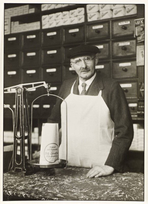 Grocer and Hardware Dealer c. 1929, printed 1990 by August Sander 1876-1964