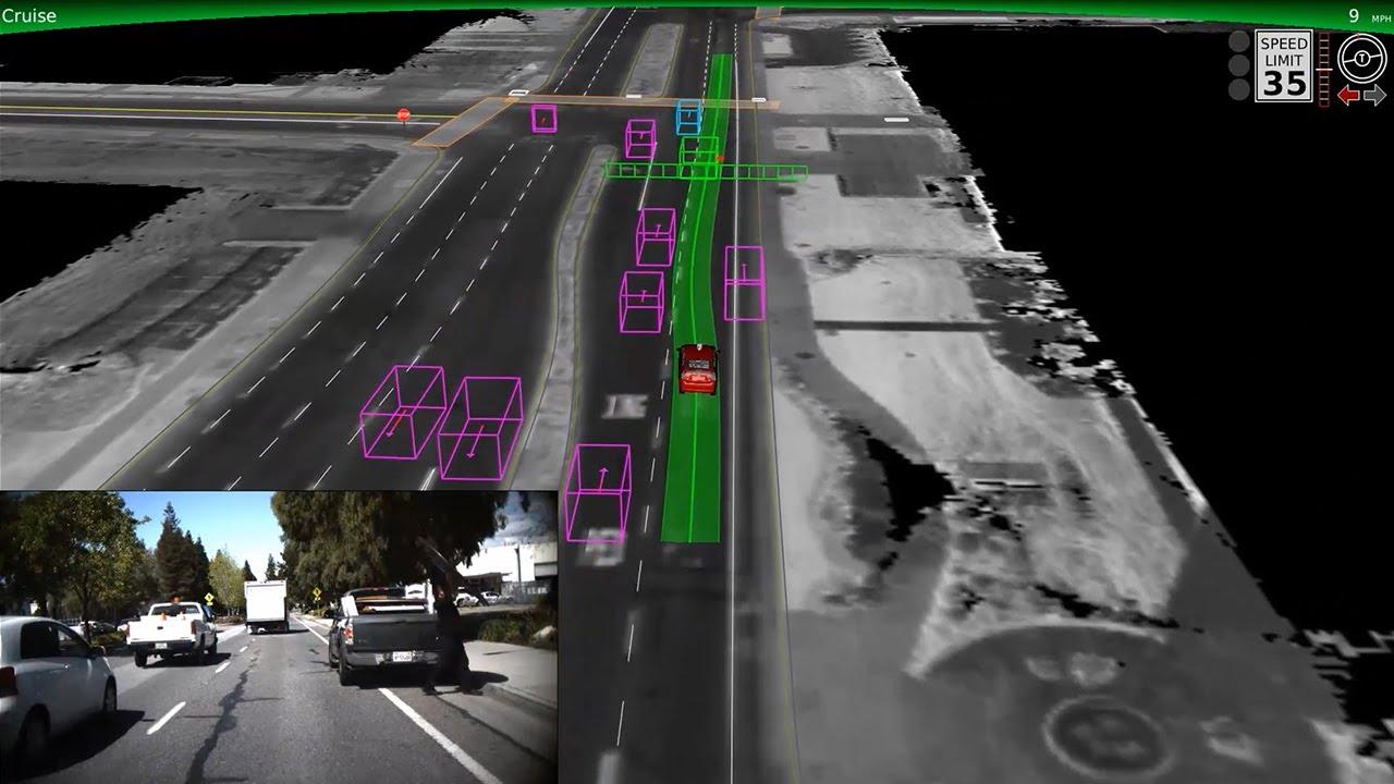 Comment la Google Car voit la circulation