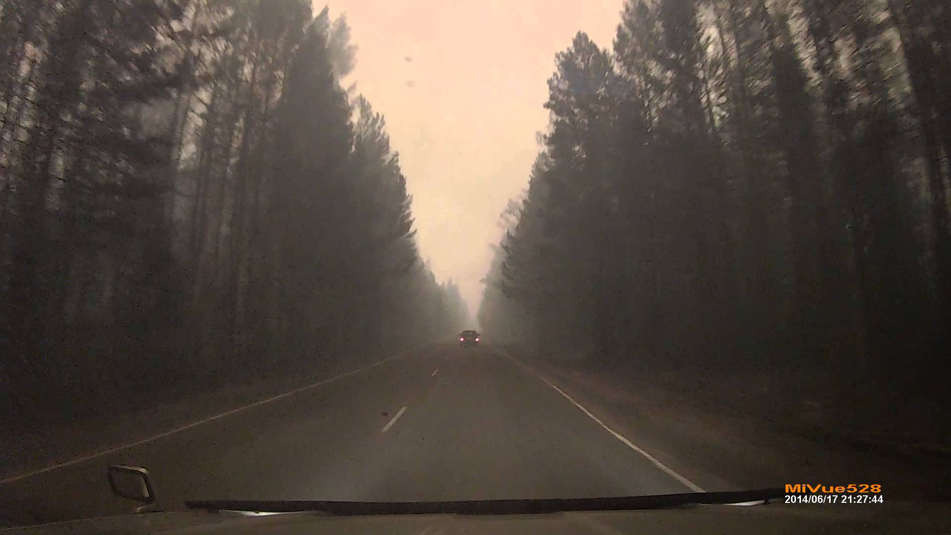 Conduire dans un feu de forêt