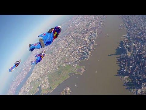 De la wingsuit au dessus de New York