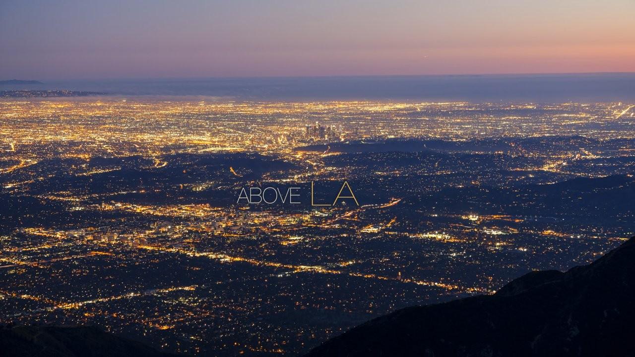 Au dessus de Los Angeles c'est beau