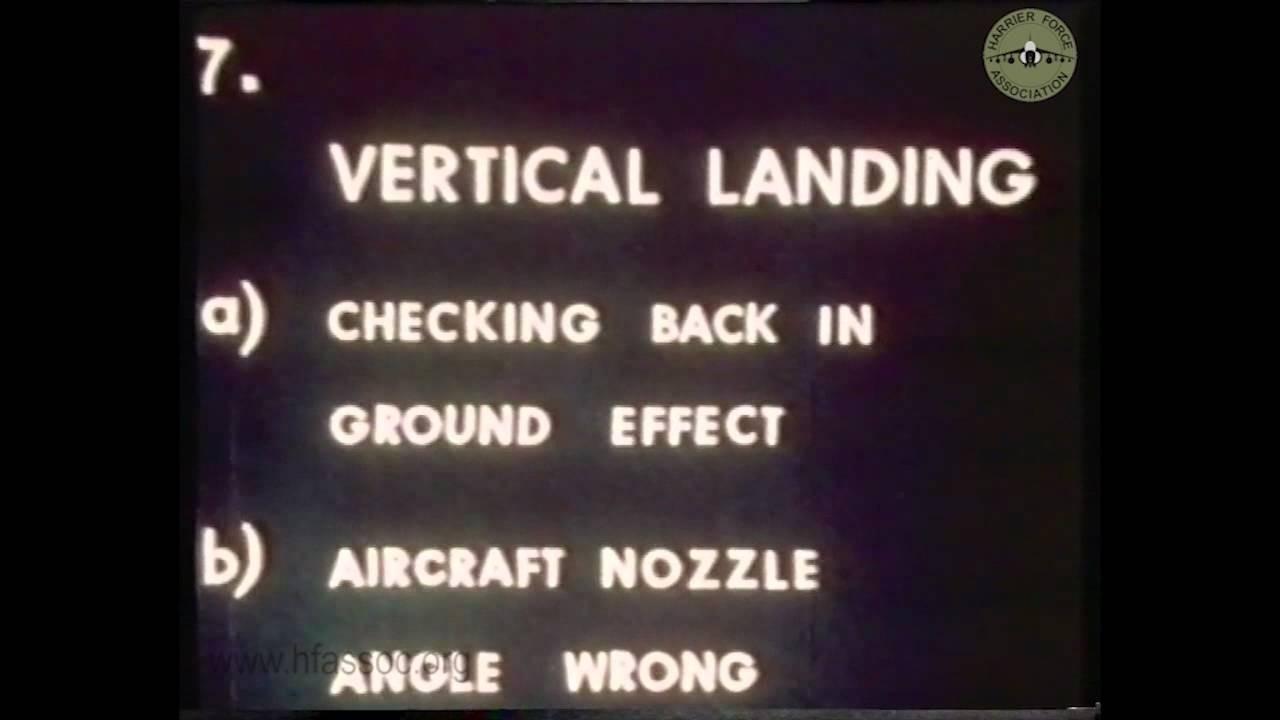 Les premiers essais du chasseur britannique Harrier