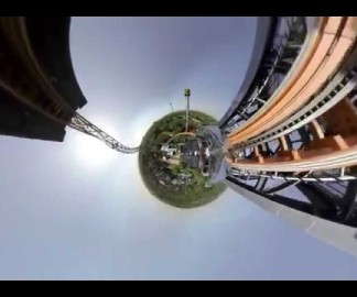 Un tour de grand-huit à 360°