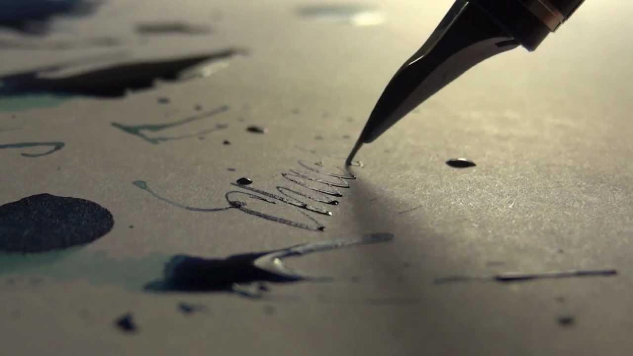 De l'écriture au stylo plume
