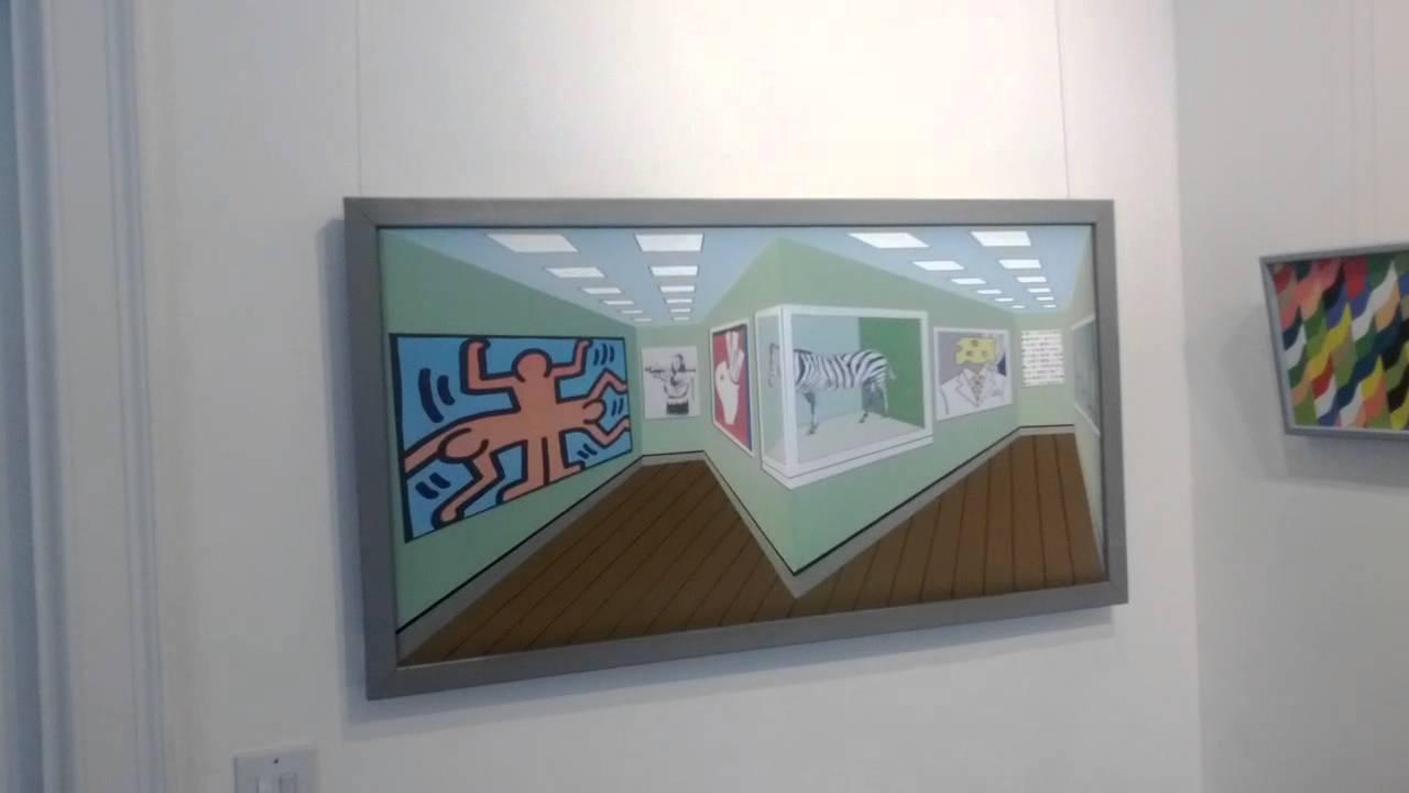 Des peintures qui bougent suivant le point de vue