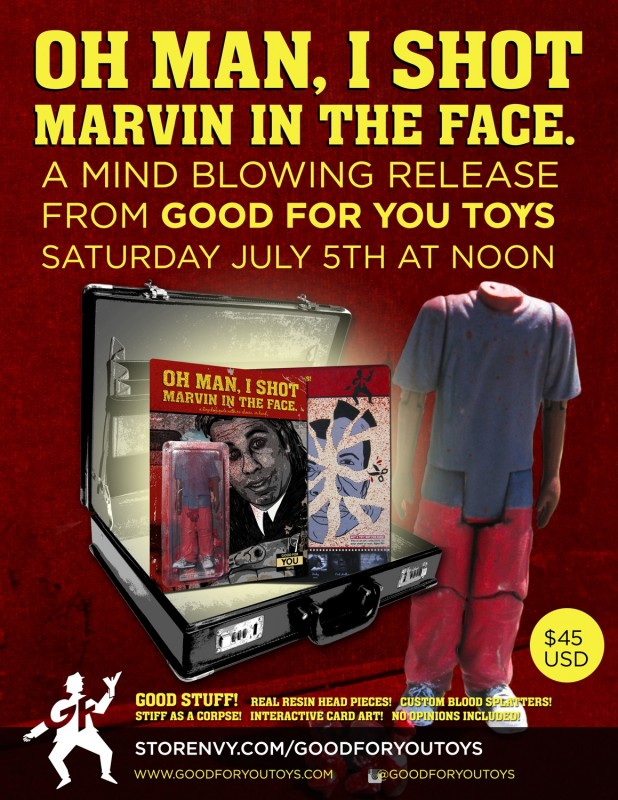 pulp fiction figurine Oh man, I shot Marvin in the face!-04