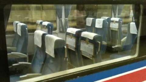 Quand un train japonais arrive au terminus