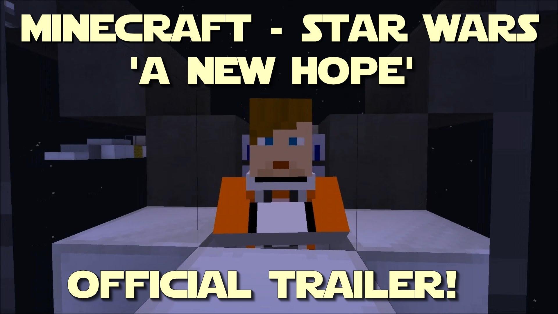 Star Wars recréé avec Minecraft