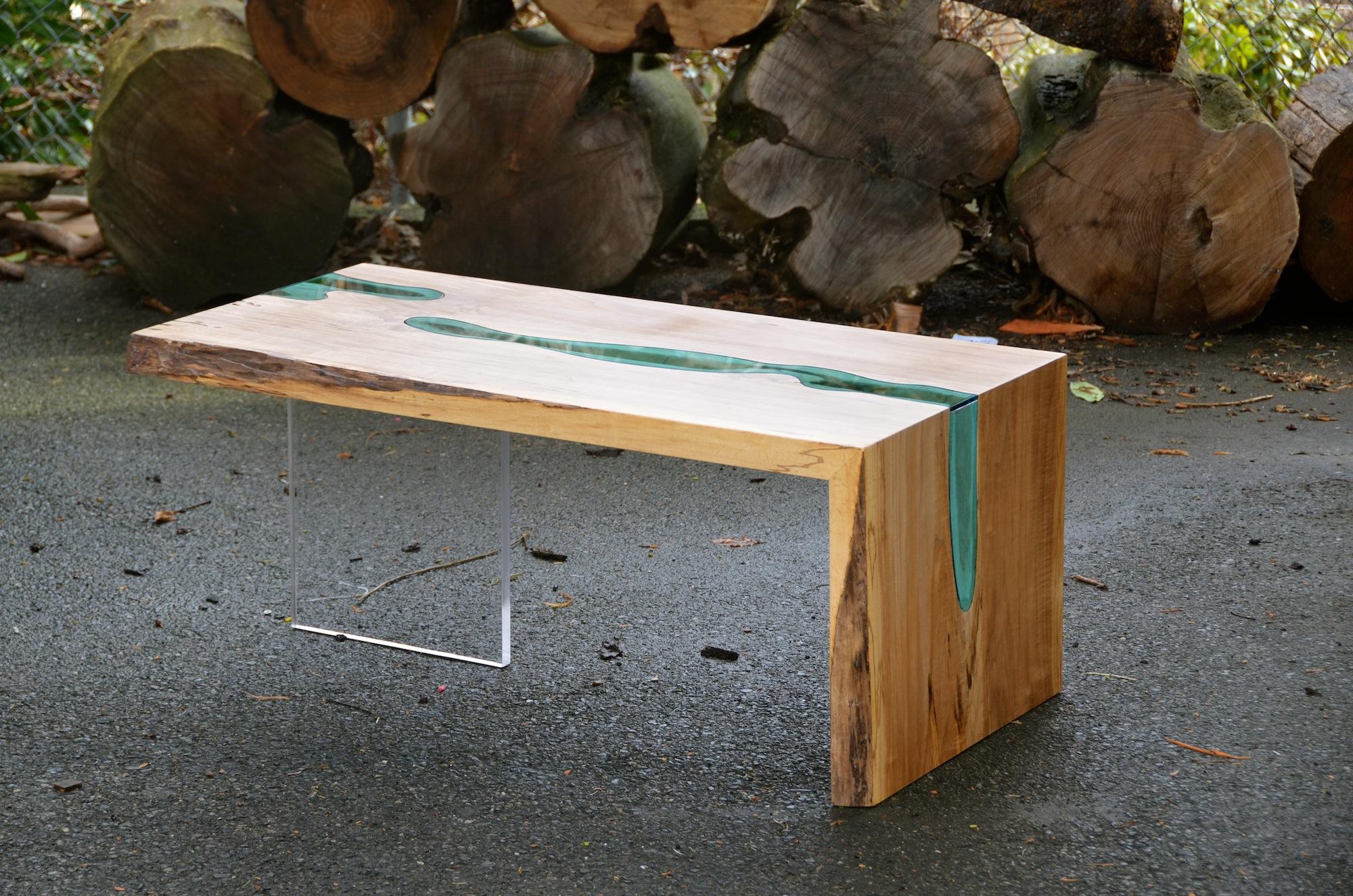 Table Bois Verre Riviere 08 La Boite Verte