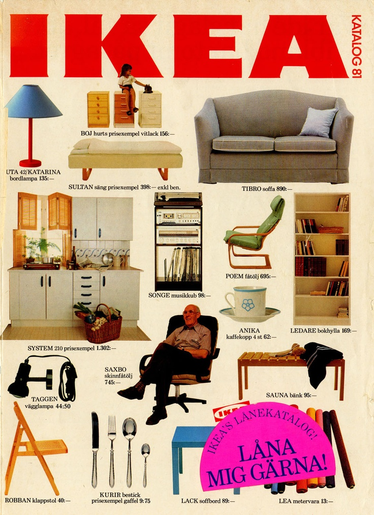 ikea 1981 catalogue couverture la boite verte. Black Bedroom Furniture Sets. Home Design Ideas