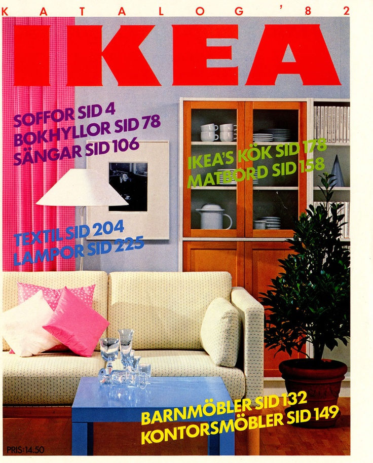 ikea 1982 catalogue couverture la boite verte. Black Bedroom Furniture Sets. Home Design Ideas