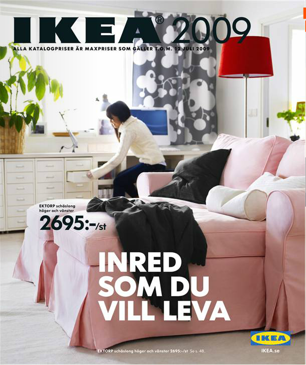ikea 2009 catalogue couverture la boite verte. Black Bedroom Furniture Sets. Home Design Ideas