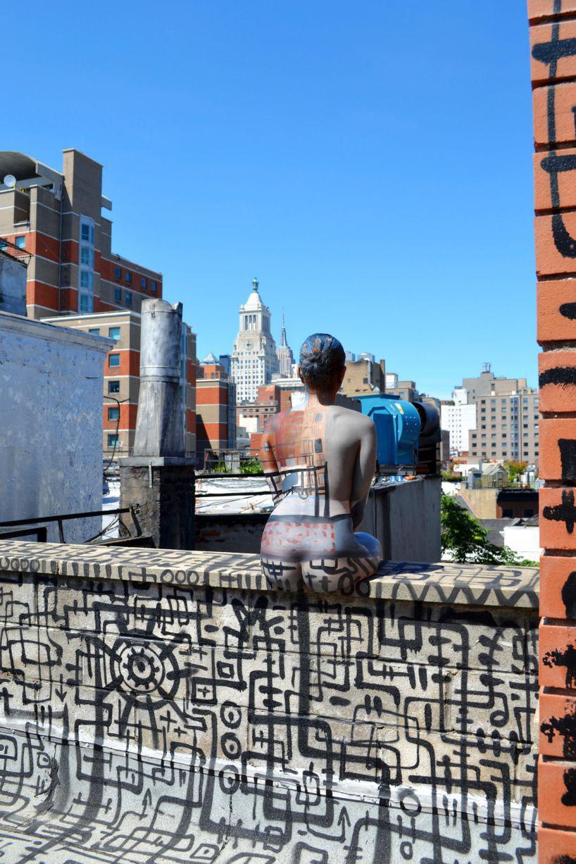 Peinture sur corps et camouflage urbain à New York