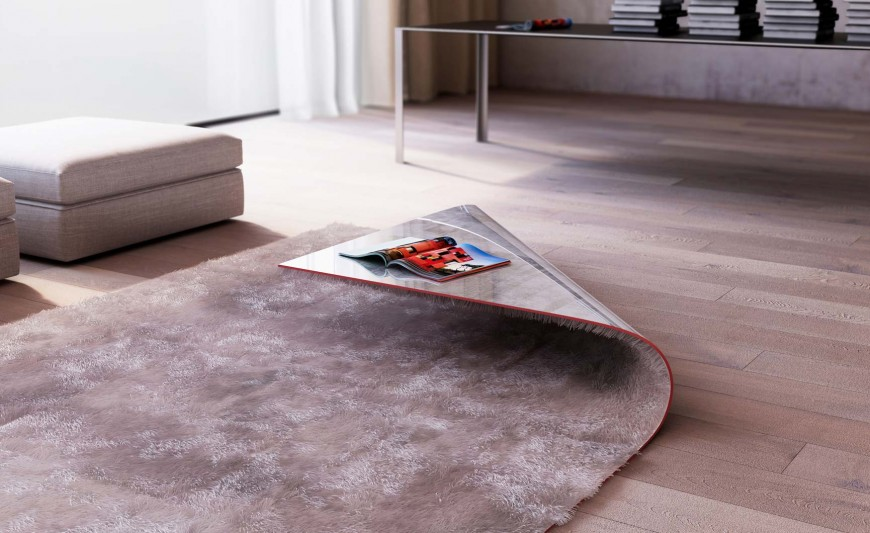 Un Tapis Table Basse