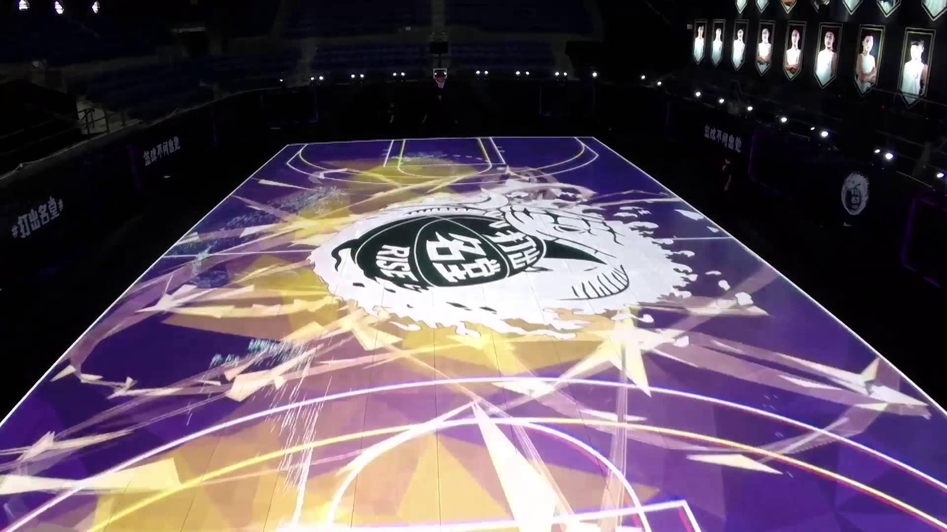 Un terrain de basket interactif avec des LEDs