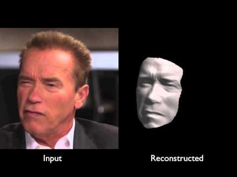 Des visages en 3D à partir de vidéos de Youtube