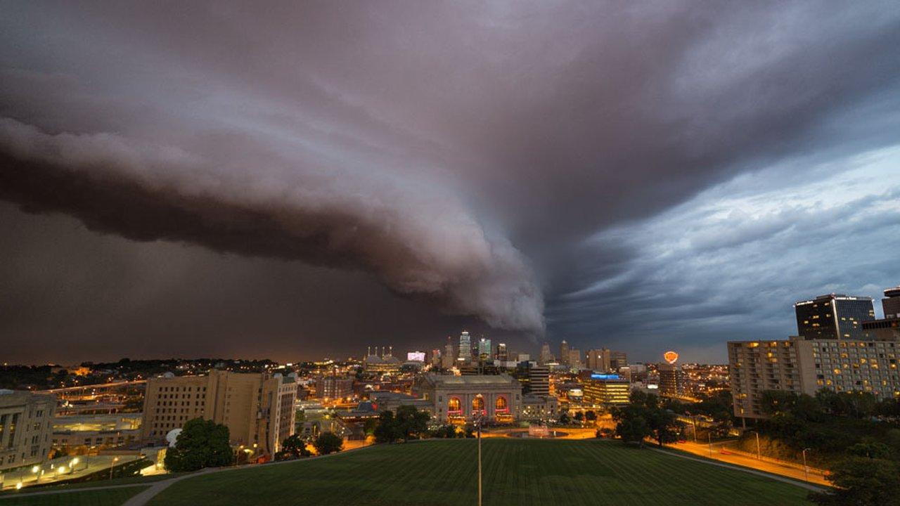 La pluie arrive à Kansas City