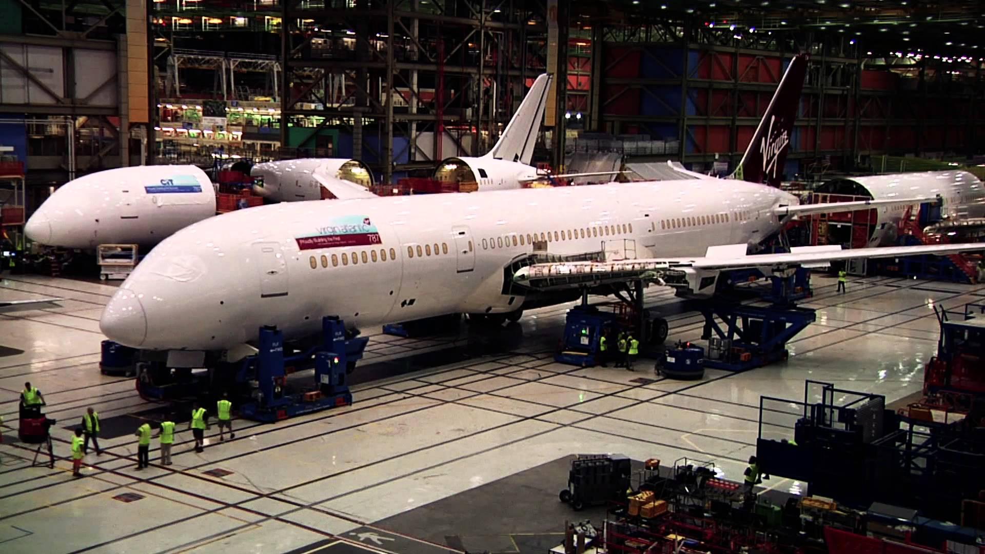 L'assemblage d'un Boeing 787-9 Dreamliner