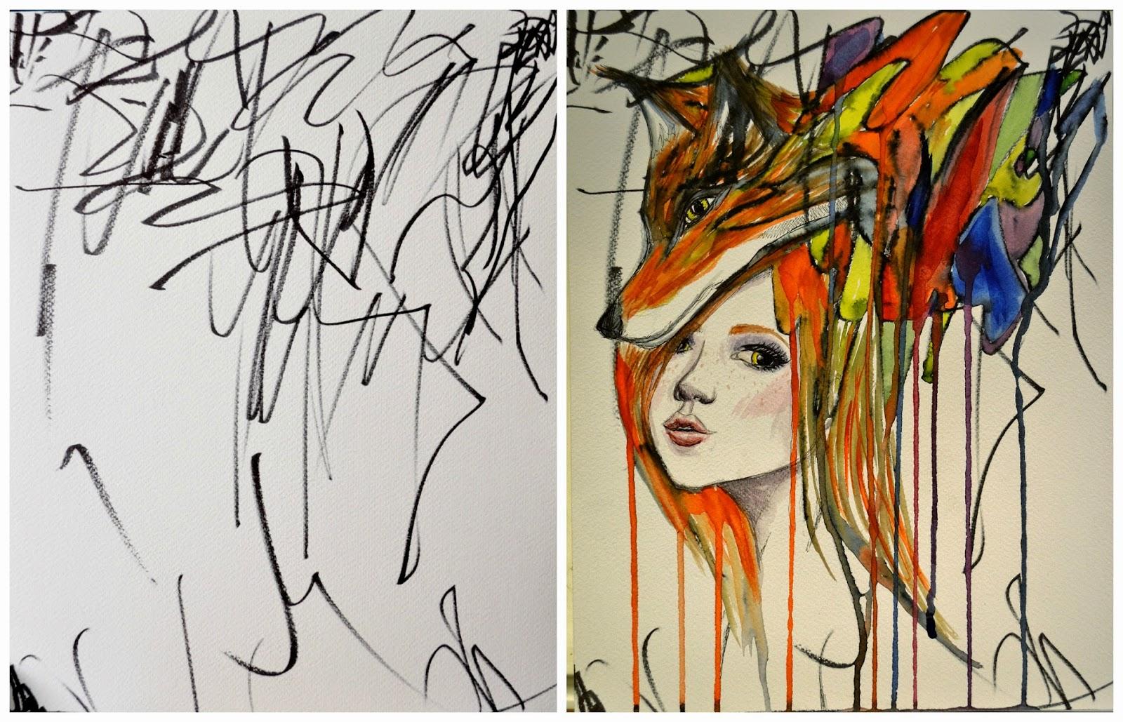 peinture-tableau-dessin-fille-enfant-01 - La boite verte