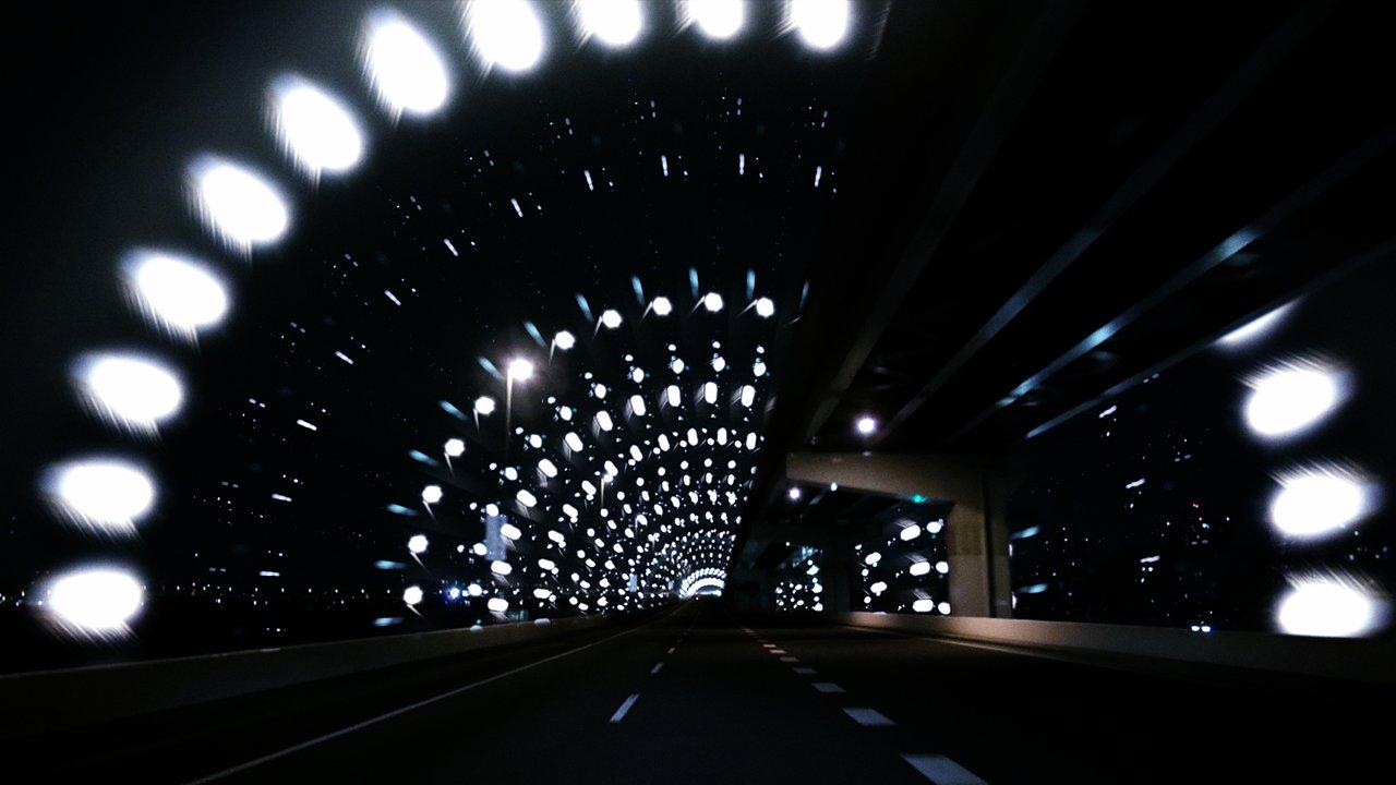 Un jeu graphique avec les lumières de Tokyo