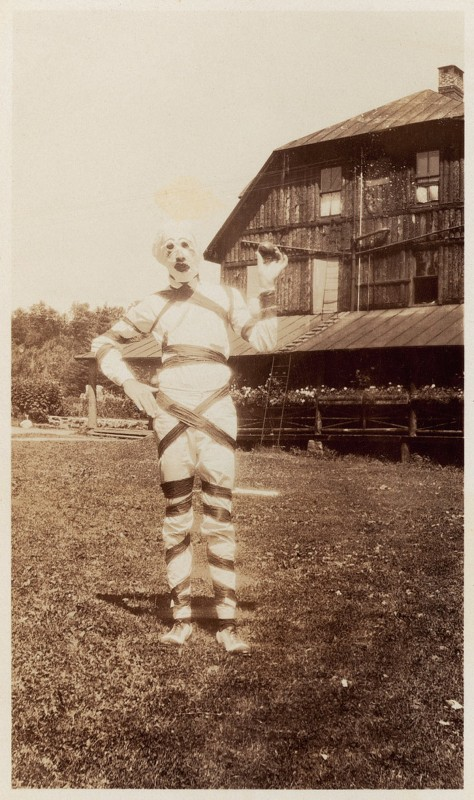 Snapshot: A costume for Halloween. USA. Photograph. 1930s