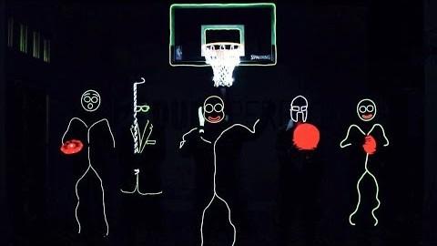 Des sports qui brillent dans le noir