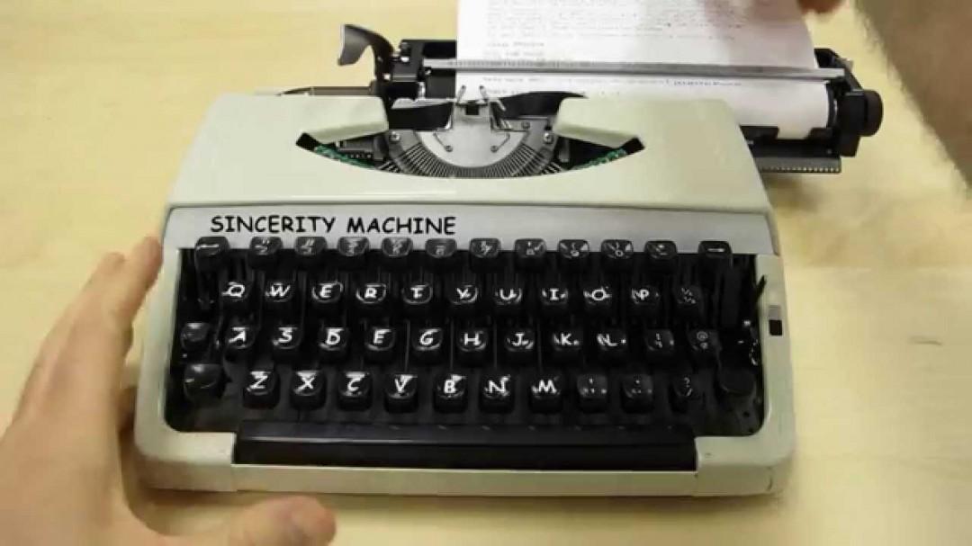 La machine à écrire en Comic Sans