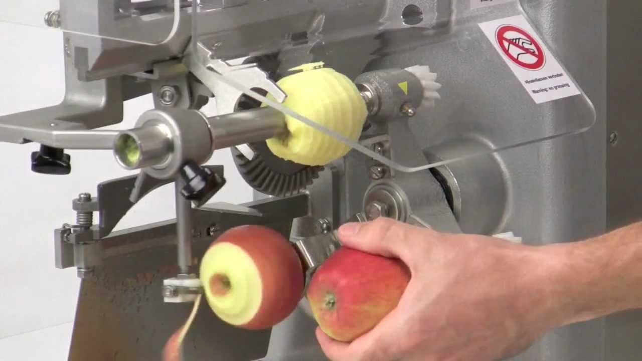 La machine à peler des pommes