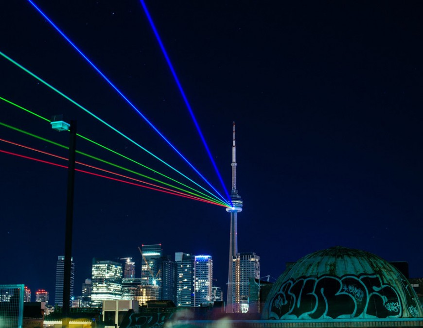 CITY OF TORONTO - Global Rainbow illuminates Toronto