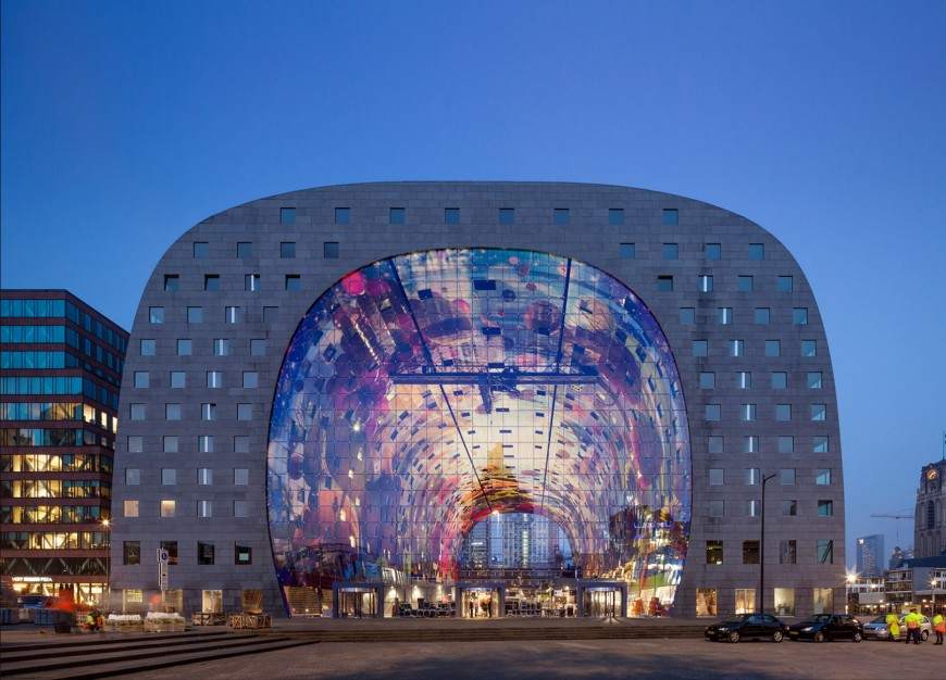 marche-aliment-Markthal-paysbas-01