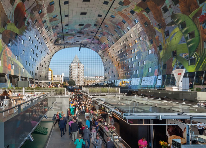 marche-aliment-Markthal-paysbas-04