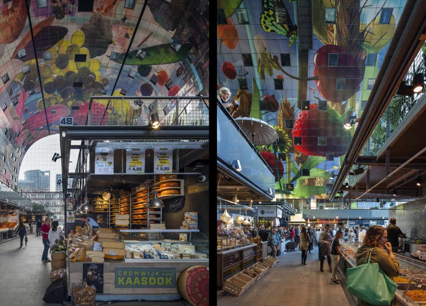 marche-aliment-Markthal-paysbas-05