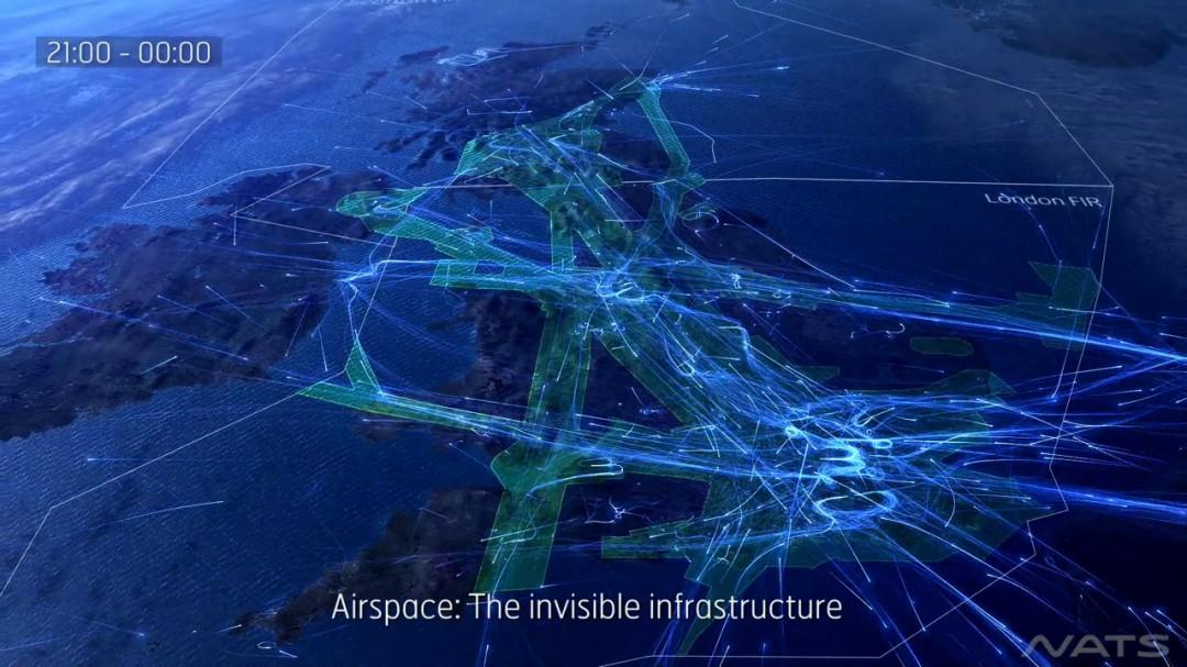 24h de trafic aérien au dessus du Royaume Uni
