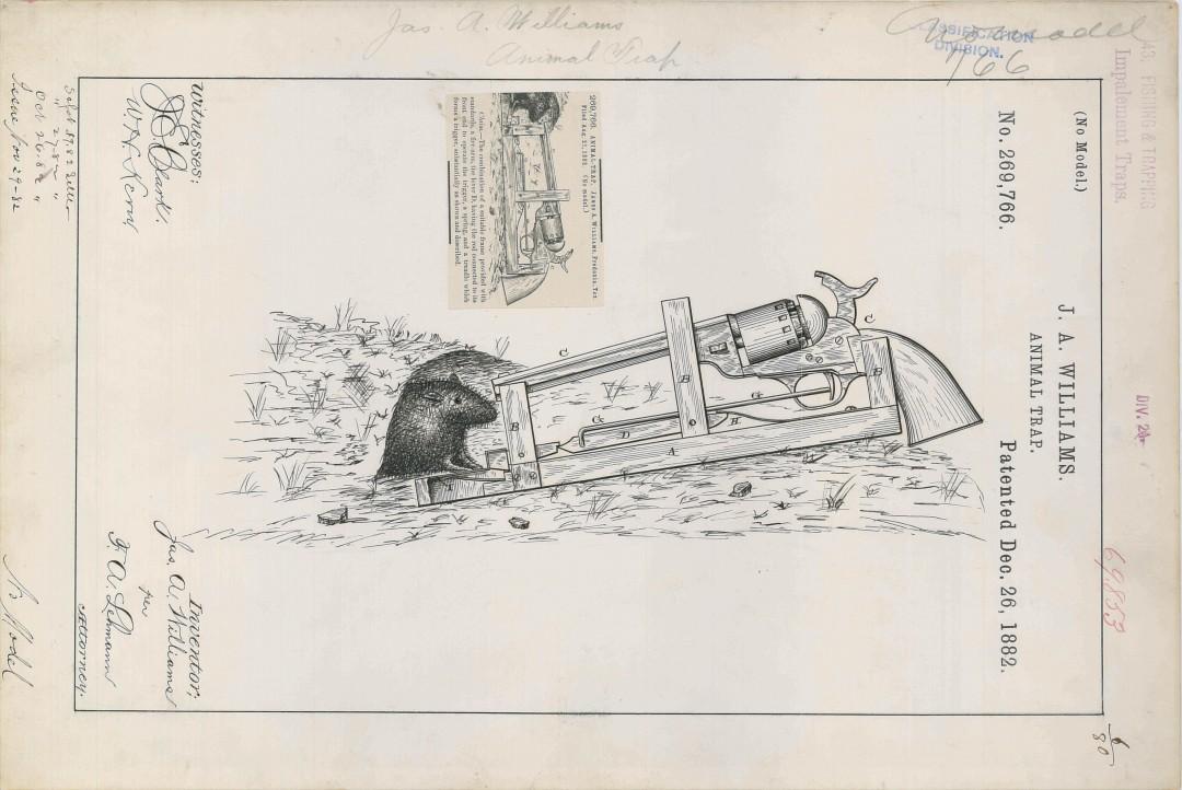 Un brevet de pi ge rats 1882 - Tapette a rat ...