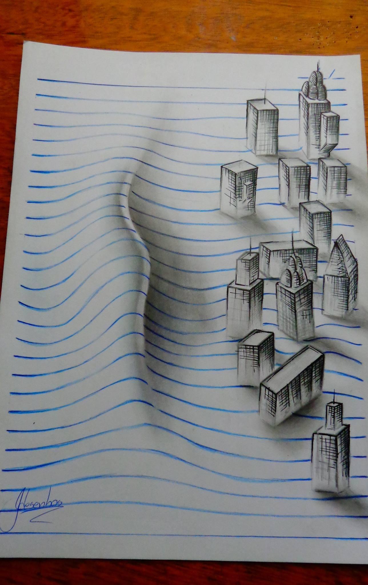 Des dessins lignés en relief