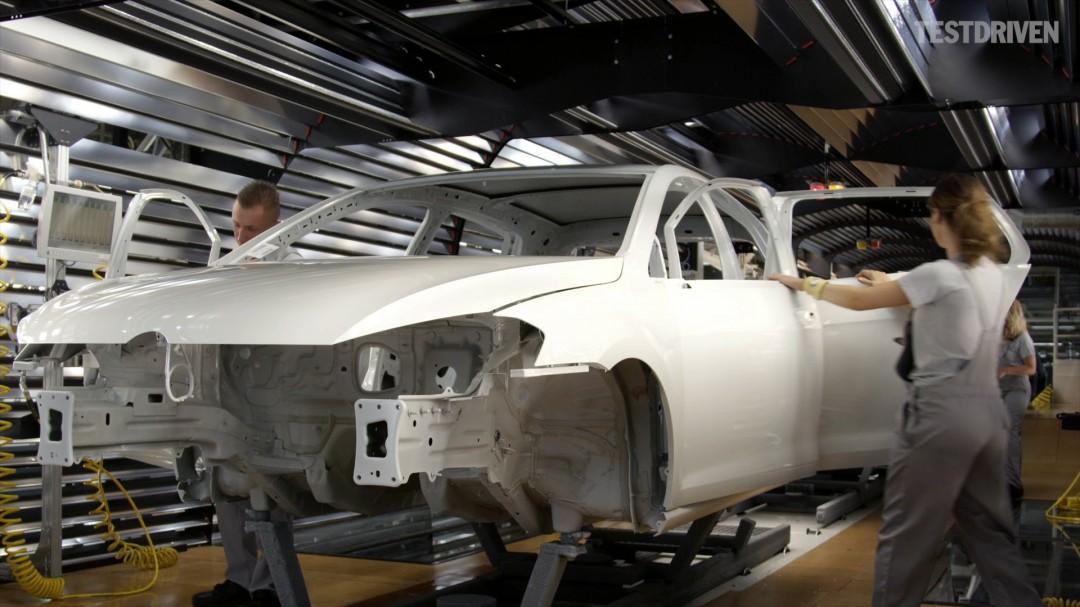 La fabrication d'une Volkswagen Golf