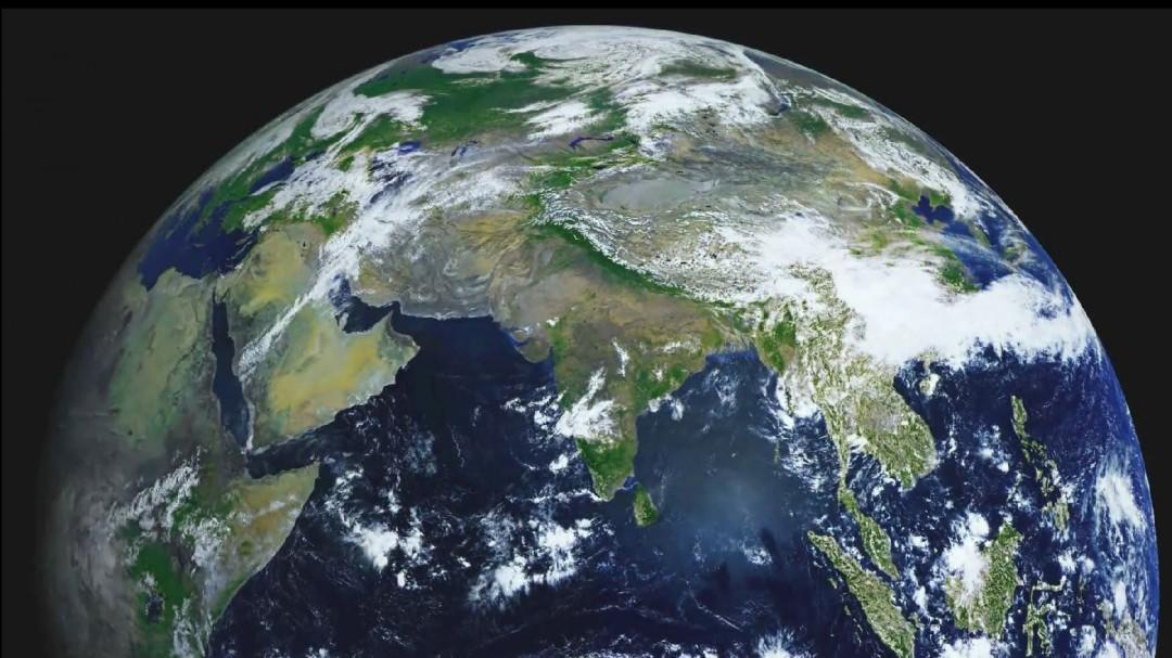 La Terre vue par un  satellite météorologique