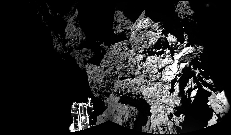 La première image prise par Philae depuis la surface