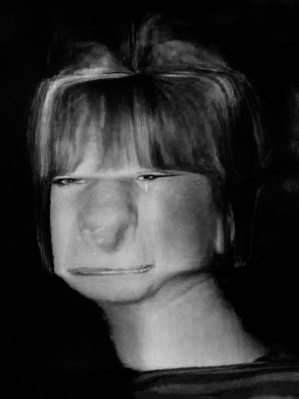 Distorted Portrait Of Barbara Streisand