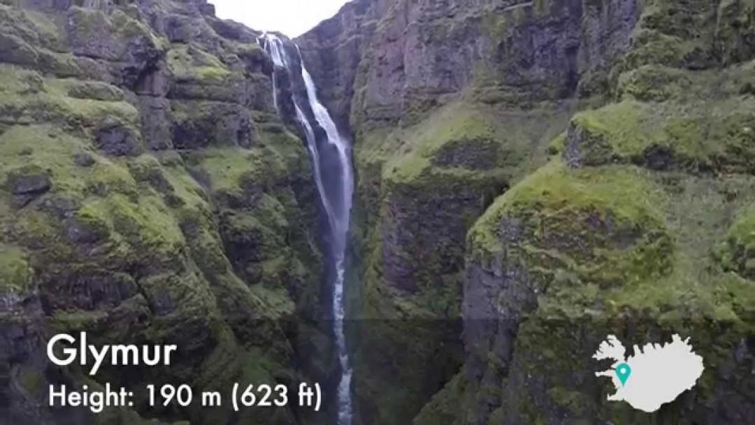 10 cascades islandaises vues d'un drone