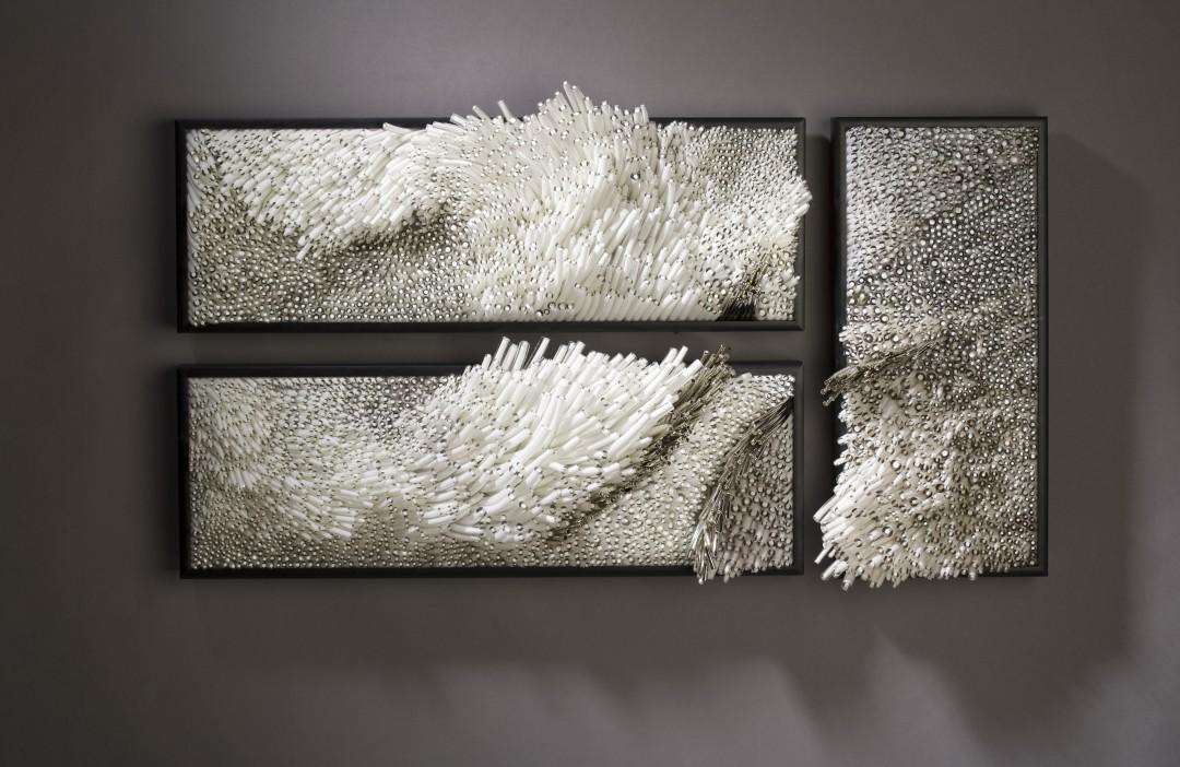 des tableaux de coraux en verre. Black Bedroom Furniture Sets. Home Design Ideas