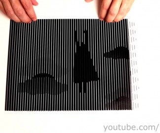 Des illusions de lignes pour une animation