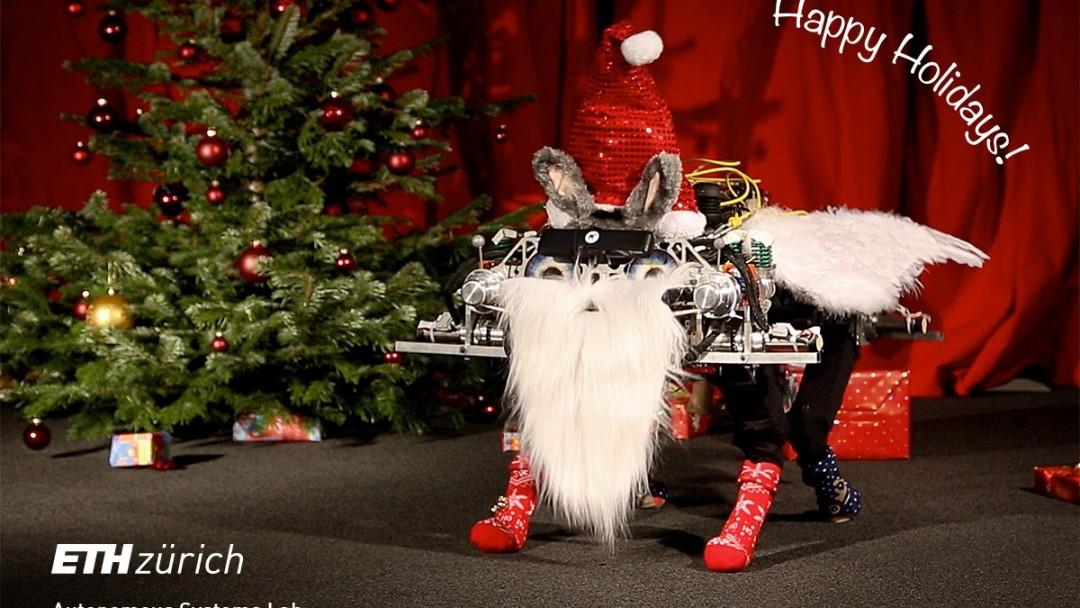 Des robots vous souhaitent un Joyeux Noël
