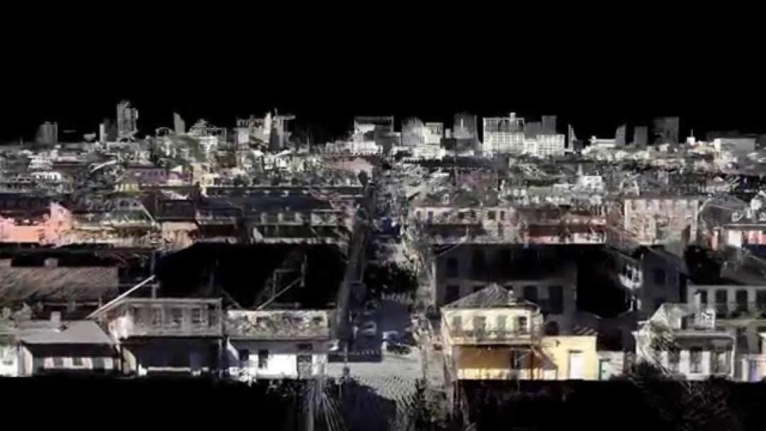 La Nouvelle-Orléans en 3D au LIDAR