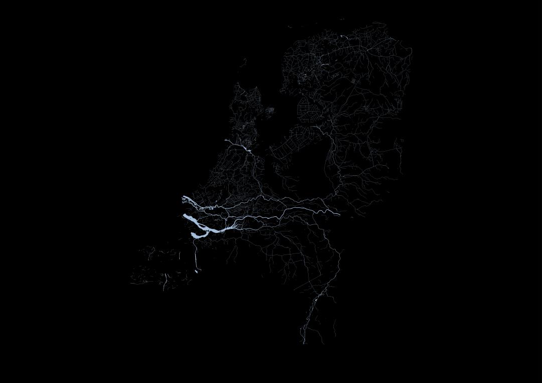 pays-bas-carte-eau-canal-riviere