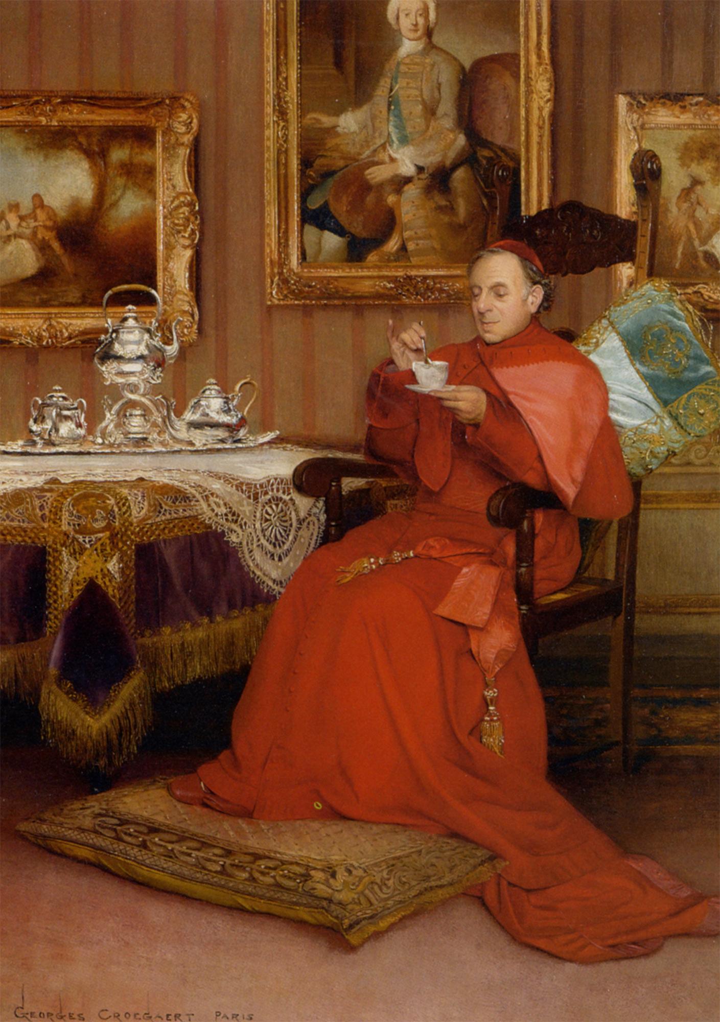peinture-Cardinal-Georges-Croegaert-10 - La boite verte