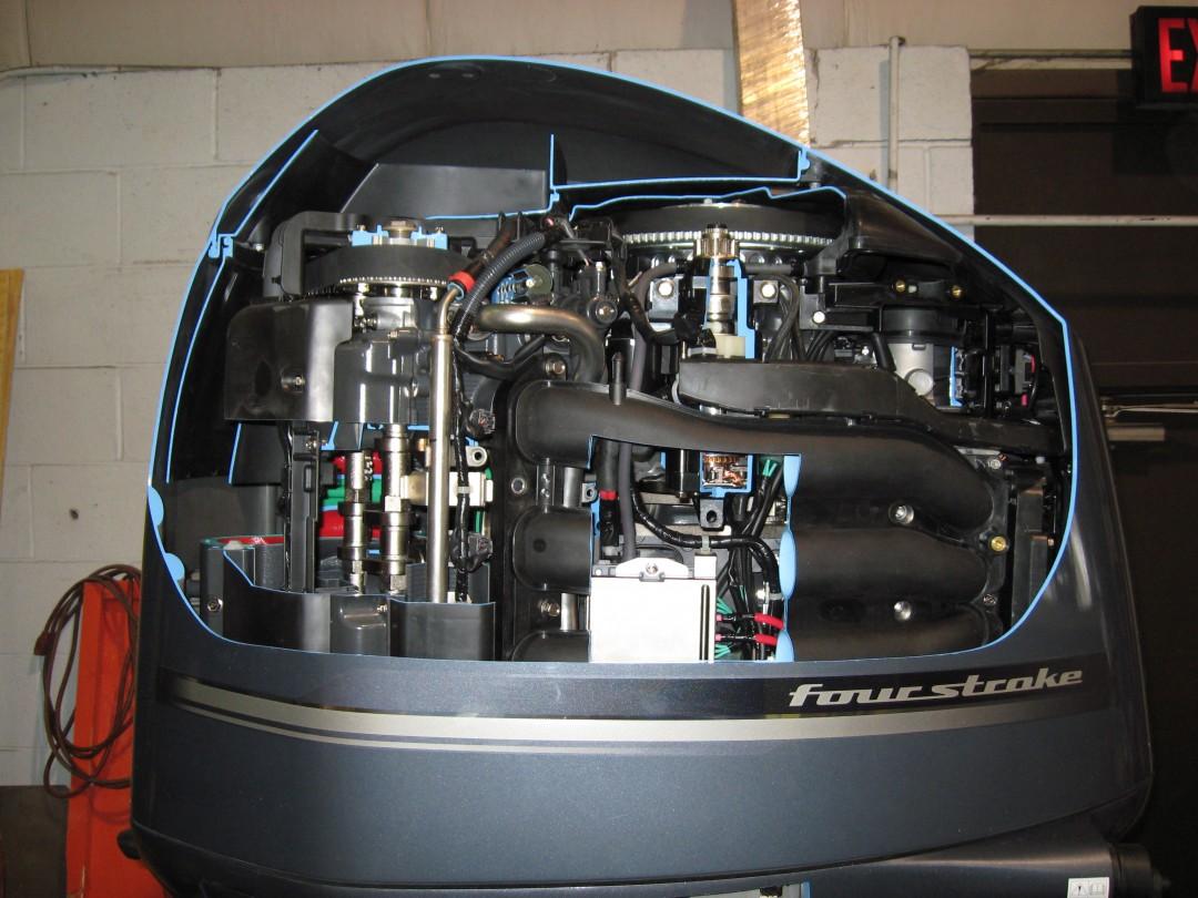 Un moteur de bateau Yamaha 350